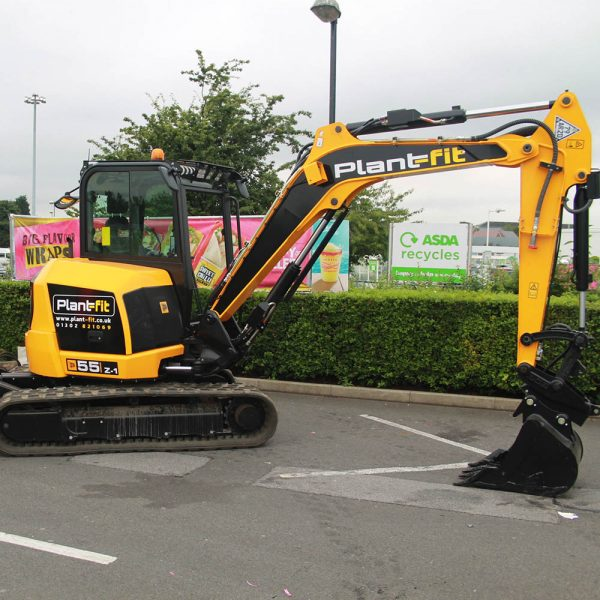 The 5.5tn tonne excavator is a high performance machine that is very easy to operate and designed to cope with the rigors of the rental market.